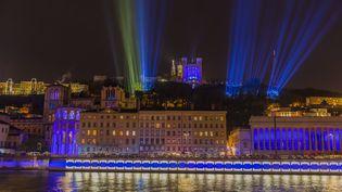 La Fête des lumières, à Lyon (Rhône), le 9 décembre 2017. (JACQUES PIERRE / HEMIS.FR / AFP)