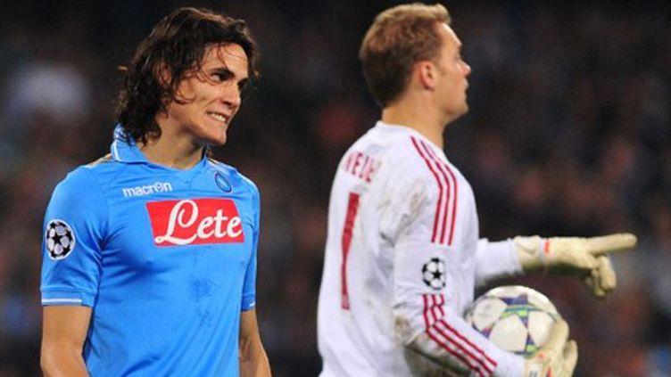 Edinson Cavani (Naples) et Manuel Neuer (Bayern Munich)