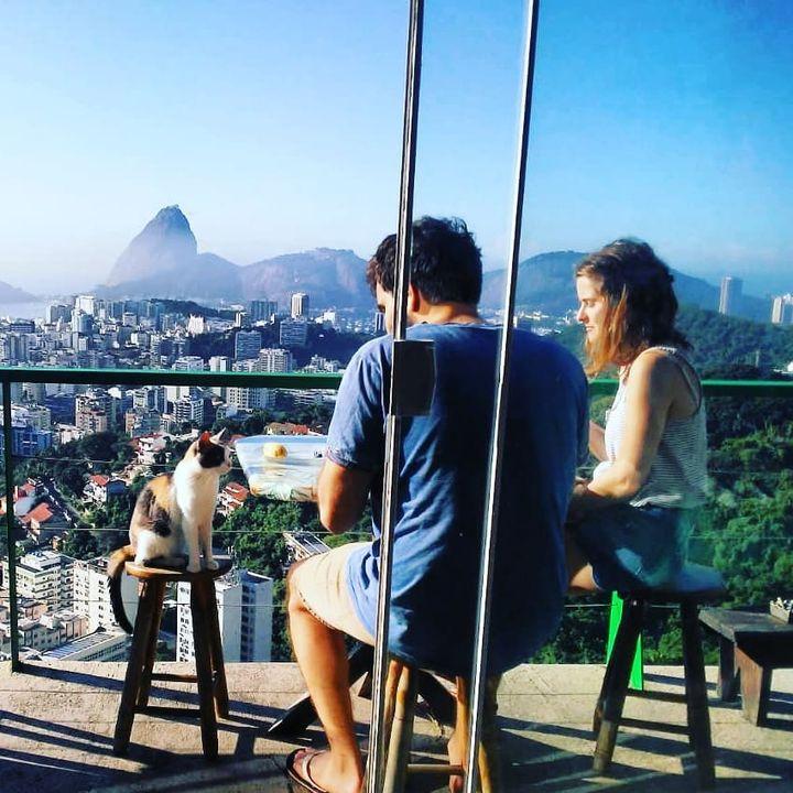 Une pause au soleil bienvenue à la maison d'hôtes Casa 48, sur les hauteurs de Rio de Janeiro, au-dessus de la petite favela Santa Teresa (Casa 48)