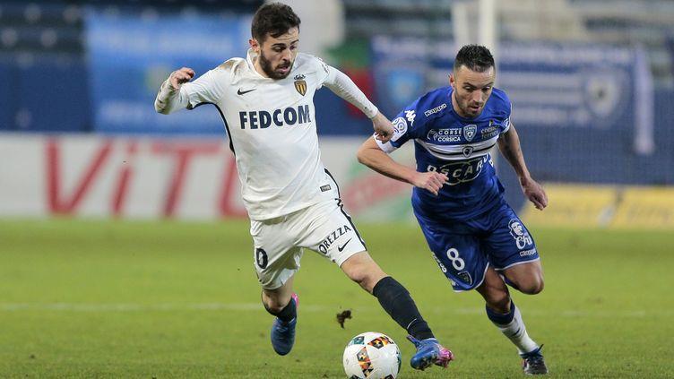 Gaël Danic a réalisé un grand match pour accrocher Monaco (PASCAL POCHARD-CASABIANCA / AFP)