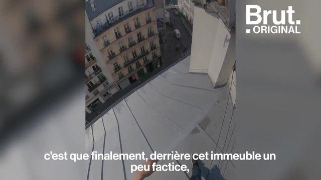 Cet immeuble n'en est pas un. Des façades factices, il en existe une dizaine dans Paris. Brut a voulu savoir ce qui se cache derrière...