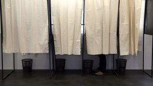 Des isoloirs lors des élections départementales à Lille (Nord), le 29 mars 2015. (THIERRY THOREL / CITIZENSIDE)