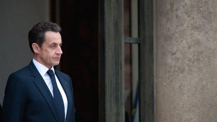Nicolas Sarkozy (10 mars 2011) (AFP/MARTIN BUREAU)