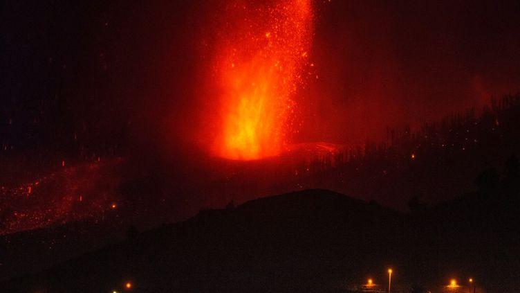 Le volcanCumbre Vieja en éruption sur l'île de La Palma aux Canaries (Espagne). (AFP)
