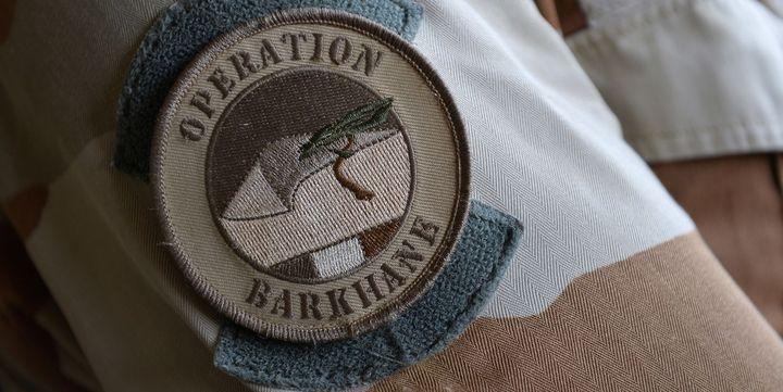 Ecusson de l'opération miliaire française Barkhane lancée le 1er Août 2014 (AFP/ Miguel Medina)
