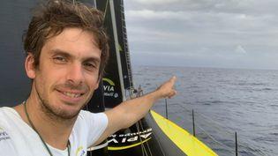 Le skipperCharlie Dalin(Vendée Globe, 2021). (CHARLIE DALIN / APIVIA)