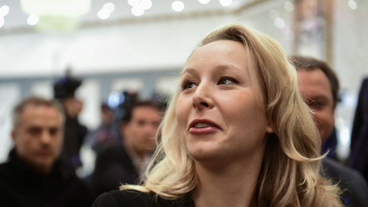 Marion Maréchal-Le Pen lors d'une réunion du FN, le 29 avril 2017. (FRANCOIS PAULETTO / CROWDSPARK / AFP)