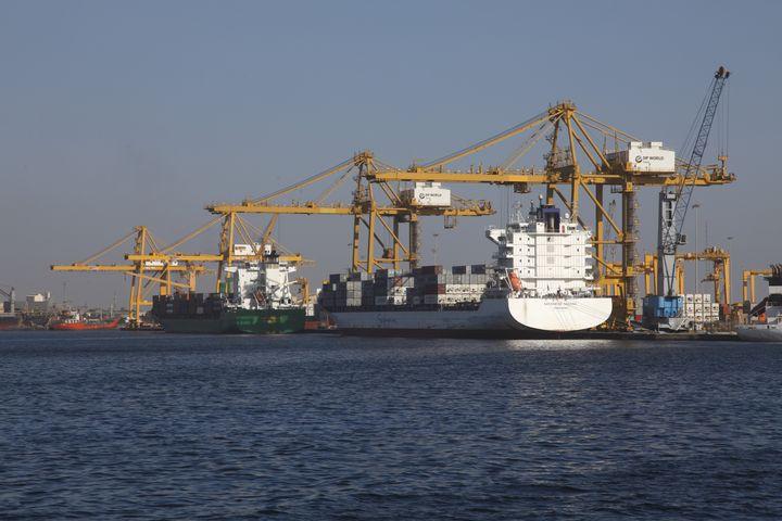 Dans le port de Dakar (le 8 février 2013) (AFP - NICOLAS THIBAUT / PHOTONONSTOP)