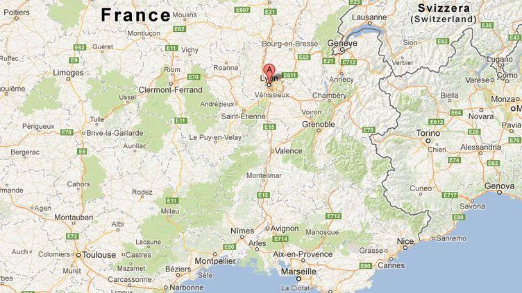 Cet événement s'est produit dimanche 23 décembre 2012 à Lyon. (GOOGLE MAPS / FRANCETV INFO)