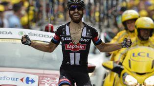 L'Allemand Simon Geschke remporte la 17e étape du Tour de France 2015, mercredi 22 juillet à Pra-Loup (Alpes-de-Haute-Provence). (JEFF PACHOUD / AFP)