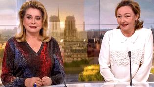 """Catherine Deneuve et Catherine Frot invitées sur le plateau de France 2 pour """"Sage Femme""""  (France 2 / Culturebox)"""