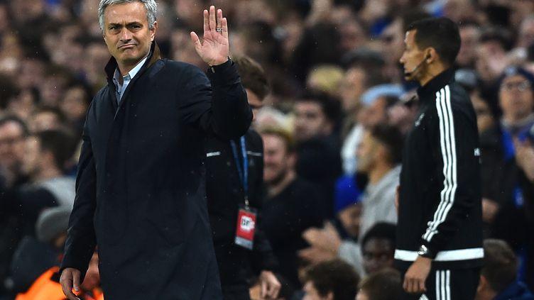 L'entraîneur de Chelsea depuis 2011, José Mourinho, à l'occasion du match opposant son équipe au Dynamo Kiev, en Ligue des Champions, à Londres, le 4 novembre 2015. (BEN STANSALL / AFP)