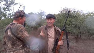L'ancien footballeur Pascal Olmeta apparaît sur une vidéo de safari, tournée il y a plusieurs années. (CHRISTOPHE MORIO / YOUTUBE)