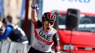 Tadej Pogacar remporte la troisième étape du Tour du Pays basque ce mercredi 7 avril. (DAVID AGUILAR / EFE)