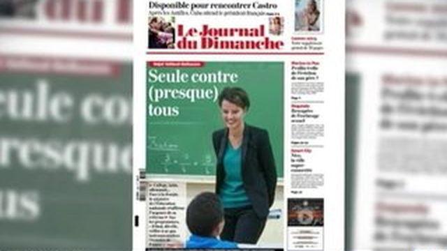 Réforme du collège : Najat Vallaud-Belkacem fait le point dans le JDD