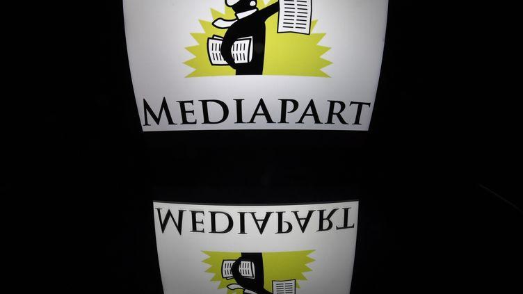 Le logo du site de Mediapart, le 28 décembre 2016. (LIONEL BONAVENTURE / AFP)