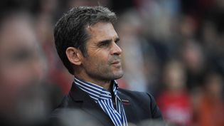 Didier Ollé-Nicolle, lors du quart de finale de Coupe de France entre Rennes et l'US Orléans, le 27 février 2019. (LOIC VENANCE / AFP)