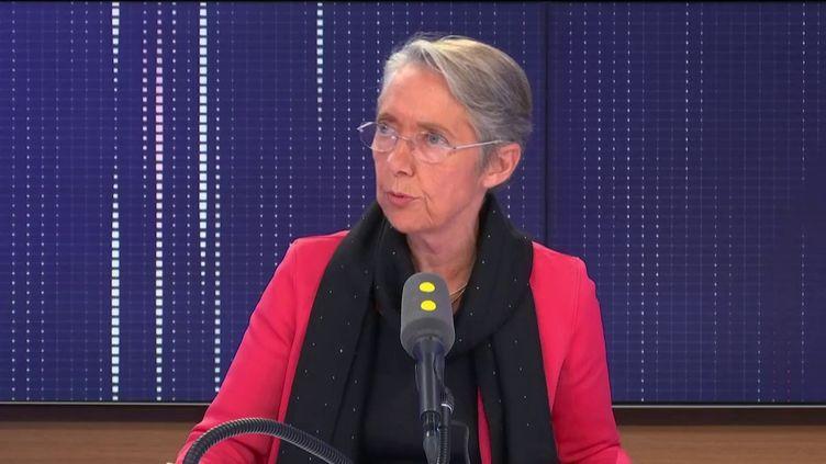 """Élisabeth Borne, ministre de la Transition écologique et solidaire, invitée du """"8h30 franceinfo"""", jeudi 31 octobre 2019. (FRANCEINFO / RADIOFRANCE)"""