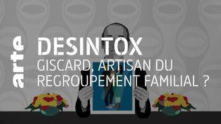 Non, Valery Giscard d'Estaing n'a jamais dit que le regroupement familial était une erreur. (ARTE/2P2L)