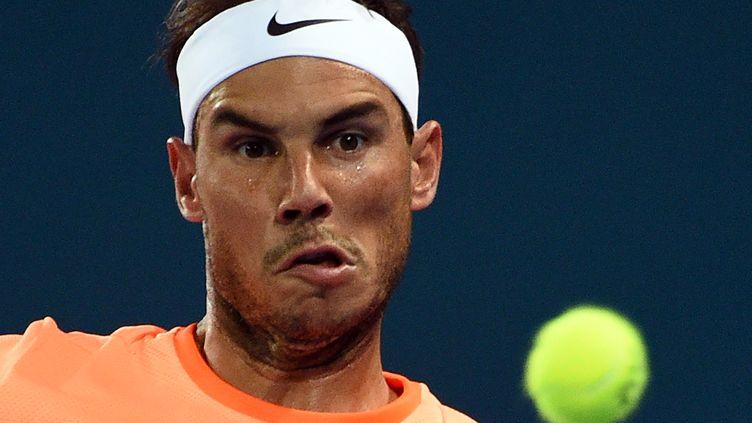 L'ancien N.1 mondial Rafael Nadal (SAEED KHAN / AFP)