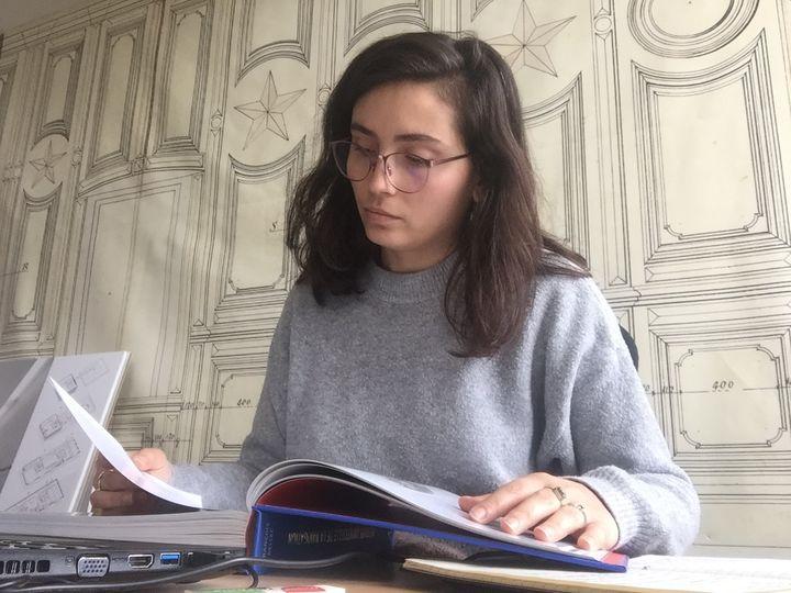 Gaëlle, 25 ans, en service civique à Brest (Finistère). (DR)