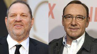 A gauche, Harvey Weinstein - A droite Kevin Spacey  (A gauche Robyn Beck / AFP - A droite Jordan Strauss / AP / SIPA)