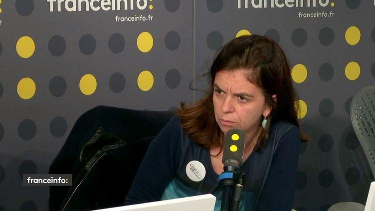 Céline Piques, porte-parle d'Osez le féminisme, sur franceinfo, le 12 novembre 2019. (FRANCEINFO / RADIOFRANCE)