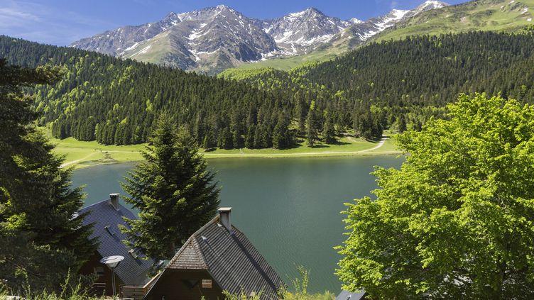 La 7e étape s'achève au Lac de Payolle, dans les Pyrénées. (AZAM JEAN-PAUL / HEMIS.FR)