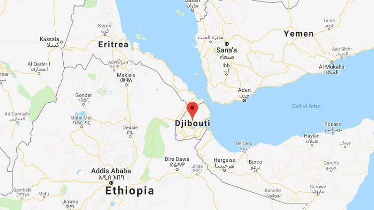 Djibouti se trouve entre l'Éthiopie, la Somalie et l'Érythrée. (GOOGLE MAPS)