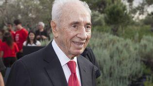 L'ancien président israélien Shimon Peres à Jérusalem, le 13 septembre 2016. (OMER MESSINGER / NURPHOTO / AFP)