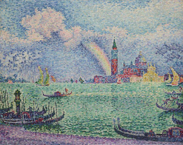"""Paul Signac, """"Arc-en-ciel, Venise"""", 1905, Collection particulière (© Schaelchli-Schmidt, Zurich)"""