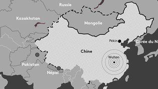 Carte des frontières chinoises fermées en raison de l'épidémie de coronavirus. (PIERRE-ALBERT JOSSERAND / FRANCEINFO)