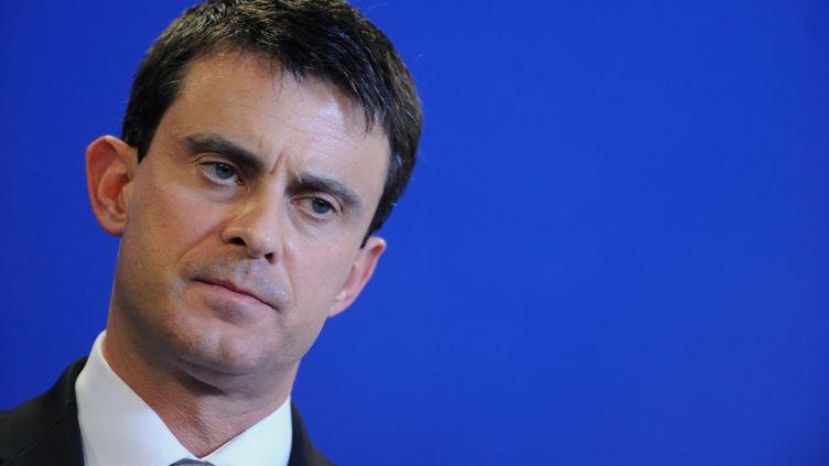 Le ministre de l'Intérieur, Manuel Valls, lors d'une conférence de presse à Nanterre (Hauts-de-Seine), le 11 janvier 2013. (WITT / SIPA)