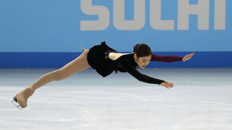 La patineuse coréenne Kim Yuna lors du programme libre des Jeux de Sotchi(Russie), le 20 février 2014. (ISSEI KATO / REUTERS)