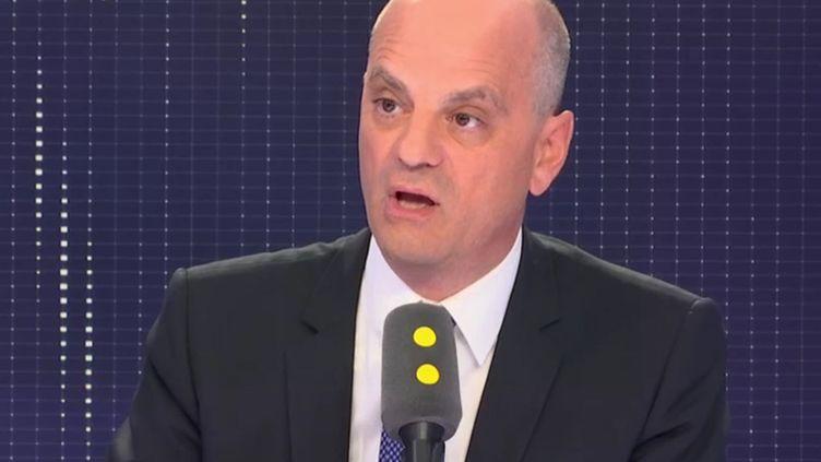 Le ministre de l'Education nationale, Jean-Michel Blanquer, invité de franceinfo le 6 septembre 2018. (RADIO FRANCE / FRANCE INFO)