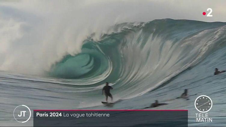 Le site de Teahupoo a été choisi par le comité d'organisation des Jeux olympiques de 2024, car il offre la garantie d'avoir des vagues optimales. (FRANCE 2)