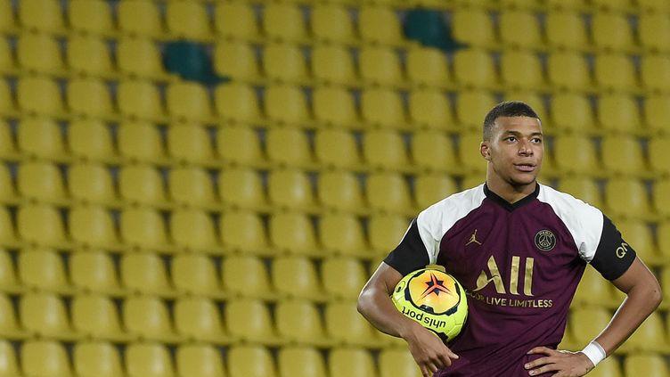 L'attaquant du PSG n'a plus marquer en Ligue des champions depuis décembre 2019. (SEBASTIEN SALOM-GOMIS / AFP)