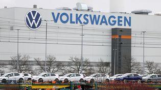 Une usine du constructeur automobile Volkswagen en Allemagne, le 17 mars 2021. (JAN WOITAS / DPA-ZENTRALBILD)