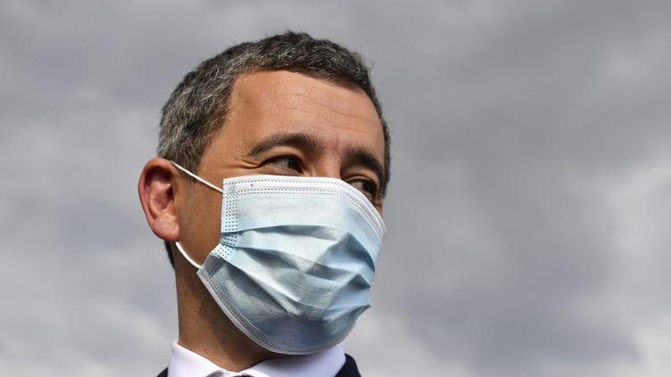 Le ministre de l'Intérieur Gérald Darmanin à Choisy-Le-Roy le 1er septembre 2020, lors d'une opération anti-drogue. (ALAIN JOCARD / AFP)