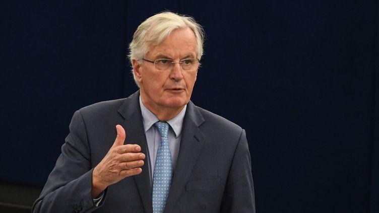 Michel Barnier, le 22 octobre 2019. (PATRICK SEEGER / EPA)