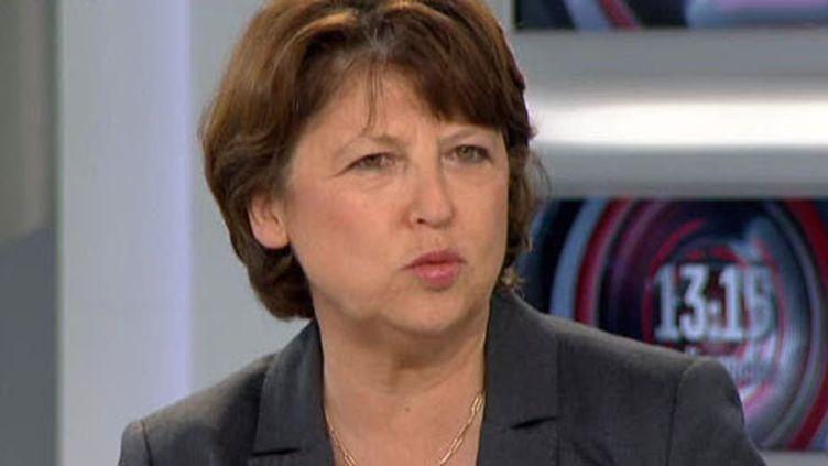 Martine Aubry au 13h15 de France 2 (archives)