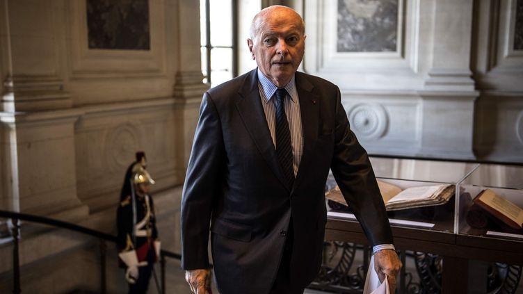 Jacques Toubon, le Défenseur des droits, le 6 septembre 2019 à Paris. (CHRISTOPHE ARCHAMBAULT / AFP)