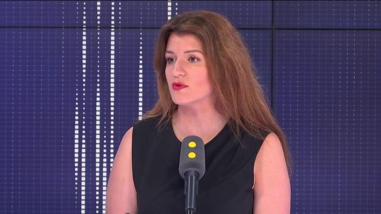 Marlène Schiappa,secrétaire d'État chargée de l'Égalité entre les femmes et les hommes et de la Lutte contre les discriminations, invitée de franceinfo lundi 1er juillet. (FRANCEINFO / RADIO FRANCE)
