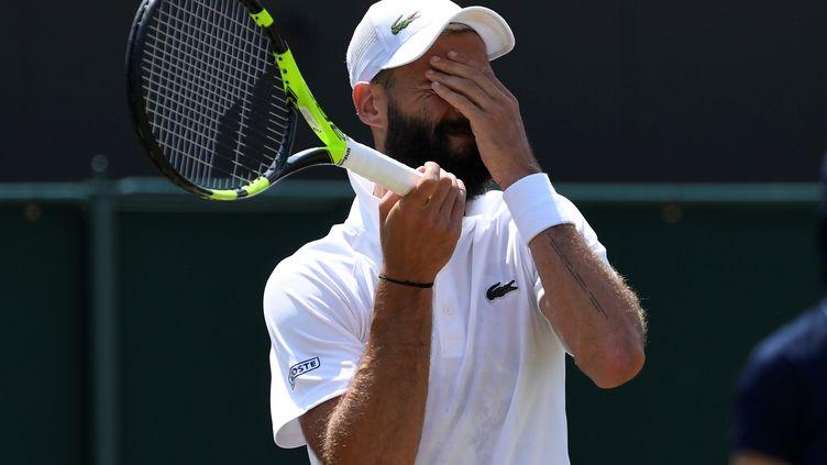 Le tennisman français Benoît Paire, le 7 juillet 2018, lors du tournoi de Wimbledon (Royaume-Uni). (TONY O'BRIEN / REUTERS)