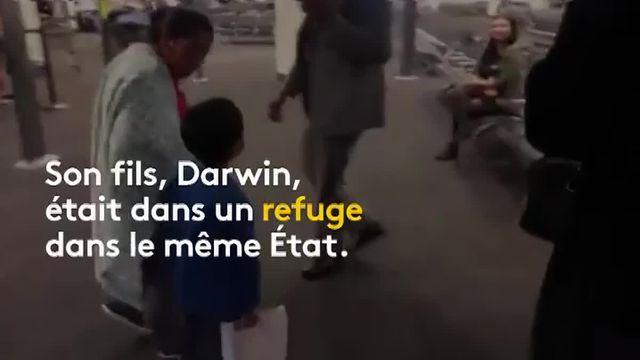 une migrante retrouve son fils de 7 ans