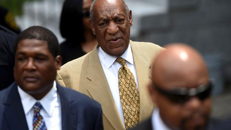 L'acteur Bill Cosby àson arrivée au tribunal deNorristown (Pennsylvanie), le 7 juillet 2016. (MARK MAKELA / REUTERS)
