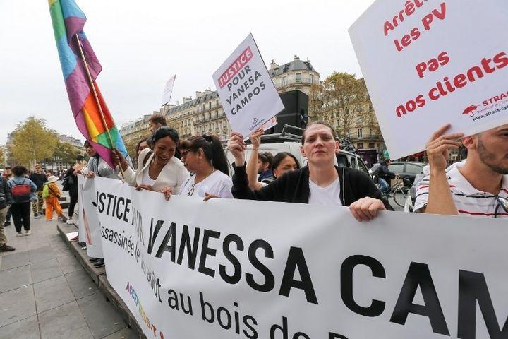 Manifestation le 22 septembre 2018 place de la République à Paris en mémoire de Vanessa Campos.  (Michel Stoupk- Nurphoto - AFP)