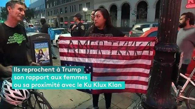 A Oakland, en Californie, ils sont plusieurs centaines à manifester contre l'élection de Donald Trump. La plupart sont étudiants à l'université de Berkeley. Entre slogans virulents et prises de parole engagées, la résistance s'organise