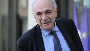 Michel Wieviorka, le 18 mars 2019, au palais de l'Élysée, à Paris. (LUDOVIC MARIN / AFP)