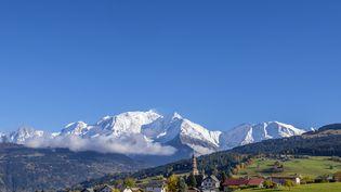 Le secteur des Dômes de Miage, dans les Alpes. (TRIPELON-JARRY / ONLY FRANCE / AFP)